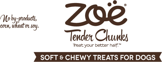 Zoe Tender Chunks: Treat your better half. Soft and chewy treats for dogs