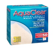 AquaClear 50 Foam Filter insert, 3 pack