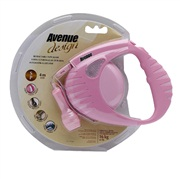 Avenue Dog Retractable Tape Leash, Pink, Small (4m/13ft)