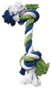 Dogit Dog Knotted Rope Toy, Multicoloured Rope Bone, Small