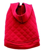 Dogit Fall/Winter 2010 Dog Clothing Collection - Hooded Sweater Coat, Red, Medium