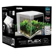 Fluval Flex Aquarium Kit - 34 L (9 US gal) - White