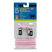 Catit Adjustable Nylon Cat Harness & Leash Set, Pink, Small