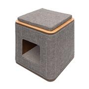 Vesper Cubo - Stone - 42.5 x 42.5 x 47.5 cm (17 x 17 x 19 in)