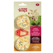 Living World Wheel Delights, Herb/Hay, 2-pack