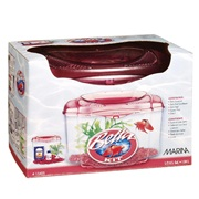 Marina Plastic Betta Kit Burgundy, 1.89L (0.5 U.S. gal)