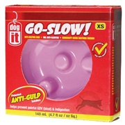 Dogit Go Slow Anti-Gulping Dog Dish, Pink, Xsmall (140ml/4.7 fl oz)