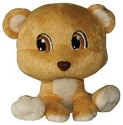 "Dogit Luvz Big Heads Plush Dog Toy, Brown Bear (15cm/6"")"