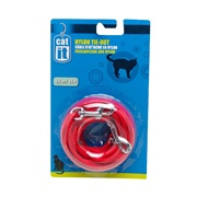 Catit Nylon Cat Tie-out,  4.5m/15ft - Red