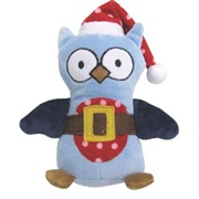 "Dogit Christmas 2012 Small Dog Toy & Apparel Collection - Owl Plush Toy with squeaker (16.5 cm / 6.5""), Blue"