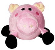 Dogit Bouncy Luvz Plush & Foam Ball Dog Toy, Pig, Small