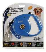 Avenue Dog Retractable Cord Leash, Blue, Large (5m/16ft)