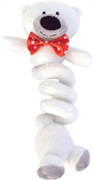 Dogit Christmas Luvz Dog Toy - Bungee Toy, Polar Bear