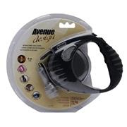 Avenue Dog Retractable Tape Leash, Black, Small (4m/13ft)
