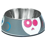 Dogit Style 2-in-1 Dog Dish- Electric Skulls, Xsmall (160ml/5.4 fl oz)