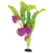 "Marina Naturals Green & Indigo Waffle Leaf Silk Plant - Medium - 23 - 25.5 cm (9-10"")"