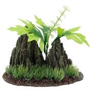 Marina Double Rock Crop with Plants, Medium