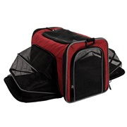 Dogit Explorer Soft Carrier Expandable Carry Bag - Burgundy