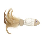 Catit Eco CatToy Sisal Cardboard Fish with Feather - 17cm
