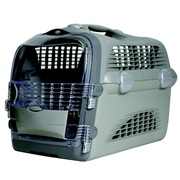 Catit Design Cabrio Cat Multi-Functional Carrier System - Gray/Gray - 51 cm L x 33 cm W x 35 cm H (20 in x 13 in x 13.75 in)