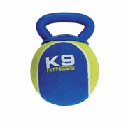 K9 Fitness by Zeus X-Large Tennis Ball with TPR Tug - 12.7 cm dia. (5 in dia.)