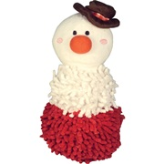 "Dogit Christmas 2011 Small Dog Clothing & Toy Collection,  Snowman shaggy plush snowman toy with squeaker  (20 cm / 8"")"