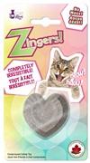 Cat Love Zingers! Heat pressed catnip toy - Heart shape - 8.5 g