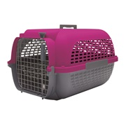 Dogit Voyageur Dog Carrier - Fuchsia/Charcoal - Medium - 56.5 cm L x 37.6 cm W x 30.8 cm H (22 in x 14.8 in x 12 in)