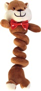 Dogit Christmas Luvz Dog Toy - Bungee Toy, Chipmunk