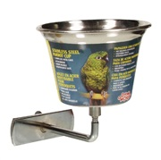 Living World Stainless Steel Parrot Cup Small - 360 ml (12 oz)