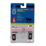 Catit Adjustable Nylon Cat Harness, Pink, Large