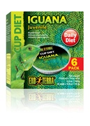 Exo Terra Iguana Cup Diet Juvenile - 6 x 0.8oz / 25g