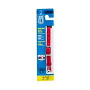 "Catit  Adjustable Nylon Expand Cat Collar with buckle, Red.  Size: 9.5mm (3/8"") x 20cm-33cm (8-13"")."
