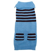 Dogit Fall/Winter 2011 Dog Clothing Collection - Striped Sweater, Ice Blue, X-Large