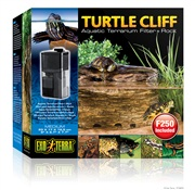 Exo Terra Turtle Cliff Aquatic Terrarium Filter + Rock Medium