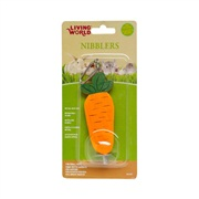 Living World Nibblers  Wood Chews - Carrot on Stick