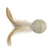Catit EcoCat Toy Seagrass Ball with Feather - 10 cm