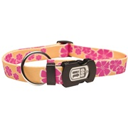 Dogit Style Nylon Print Dog Collar-Aloha,Yellow, Medium