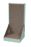 Cat Love L-form Cardboard Scratcher with Catnip - 50 x 25 x 25 cm (19.64 x 20.8 x 20.8 in)