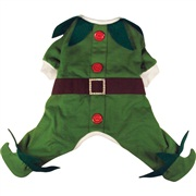 Dogit Christmas 2011 Small Dog Clothing & Toy Collection, Elf Pyjamas, Green, Medium