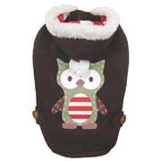 Dogit Christmas 2012 Small Dog Toy & Apparel Collection - Owl Hoodie, Large