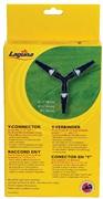 "Laguna Y-connector supplied with 3 click-fit connectors, 3.8 cm (1 1/2"")"
