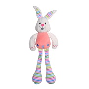 Dogit Stuffies Dog Toy - Nubby Plush Pink Rabbit - 42 cm (16.5 in)