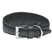 Dogit Style Faux Leather Dog Collar-L.A - Black, Large, 55mm