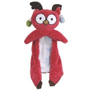 "Dogit Christmas 2012 Small Dog Toy & Apparel Collection - Owl Flopper Toy with squeaker (33 cm / 13""), Red"