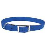 "Dogit Double Ply Nylon Dog Collar with Buckle- Blue, XLarge (65cm/26"")"