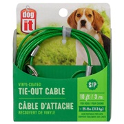 Dogit Tie Out Cable - Small - Green - 10 m (3 ft)