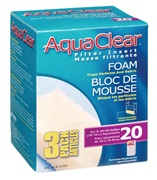 AquaClear 20 Foam Filter insert, 3 pack