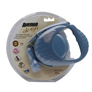 Avenue Dog Retractable Tape Leash, Blue, Medium (5m/16ft)