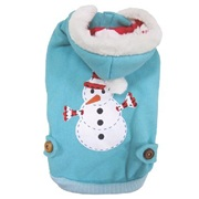 Dogit Christmas 2012 Small Dog Toy & Apparel Collection - Snowman Hoodie, Medium